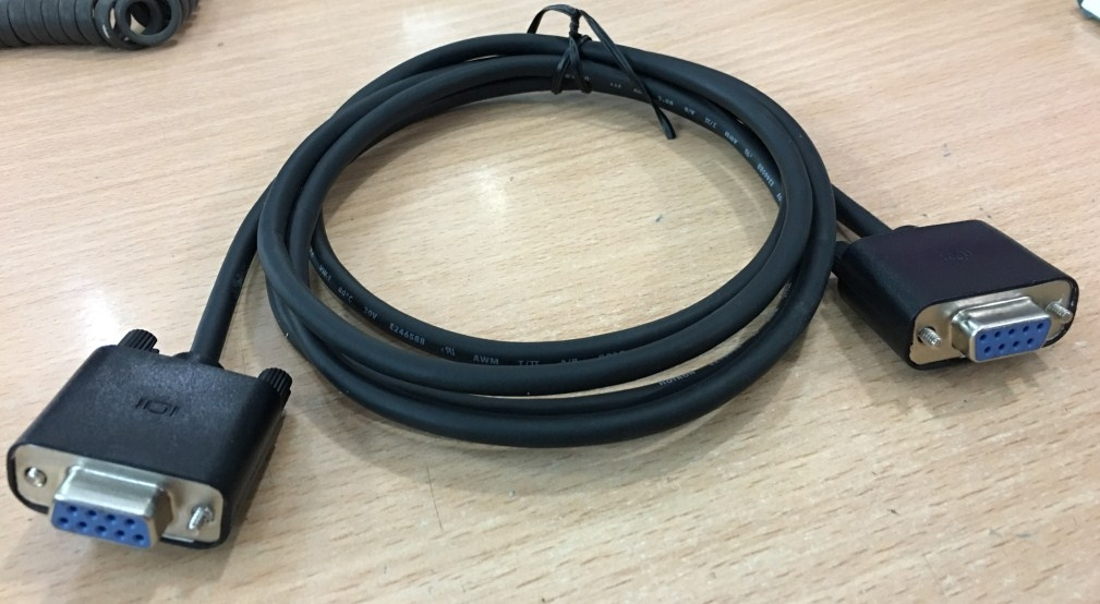 Cáp kết nối máy xét nghiệm Tosoh AIA-360 to Piano Evo-4 PC Computer RS232C Cable DB9 Female to DB9 Female Black Length 1.8M