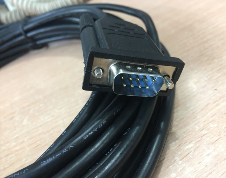 Cáp RS232 Chất Lượng Cao Suzhou Jinlianli Chuẩn Kết Nối Straight Through Serial Cable DB9 Male to DB9 Male DTE to DTE Connection Black Length 10M