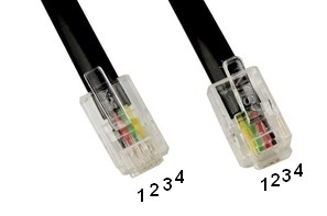 Cáp Kết Nối Xoắn Ốc Tay Cầm Nghe Nói Điện Thoại Bàn Panasonic RJ9 4 Wire Flat Cross Pinned Cable Coiled Telephone Cord RJ9 To RJ9 Black Length 1.5M