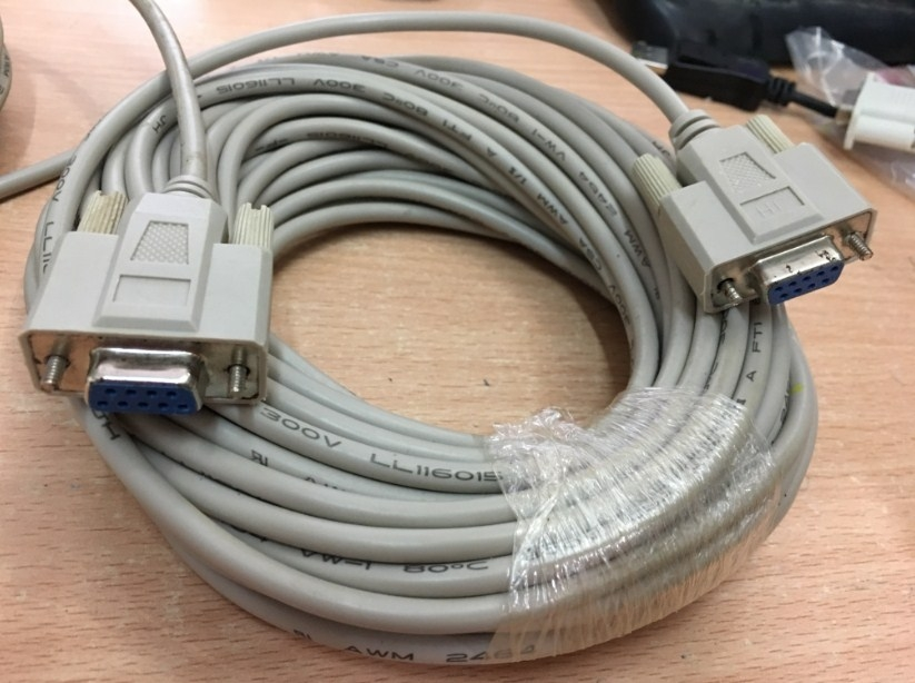 Cáp RS232 Straight Through Serial Cable DB9 Female to DB9 Female DCE to DCE Connection Length 20M