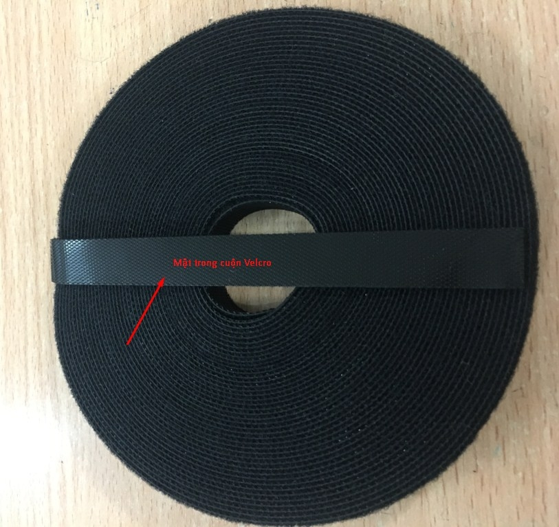 Băng Buộc Móc Vòng Tự Dính Cáp VELCRO BRAND ONE-WRAP TAPE YARD ROLL 12mm x 10m Black For Fiber Optic Network Ethernet Patch Cord Cable Dài 10M