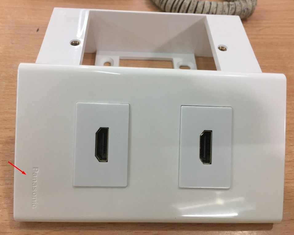 Bộ Outlet Panasonic wallplate 2 Port HDMI(White)