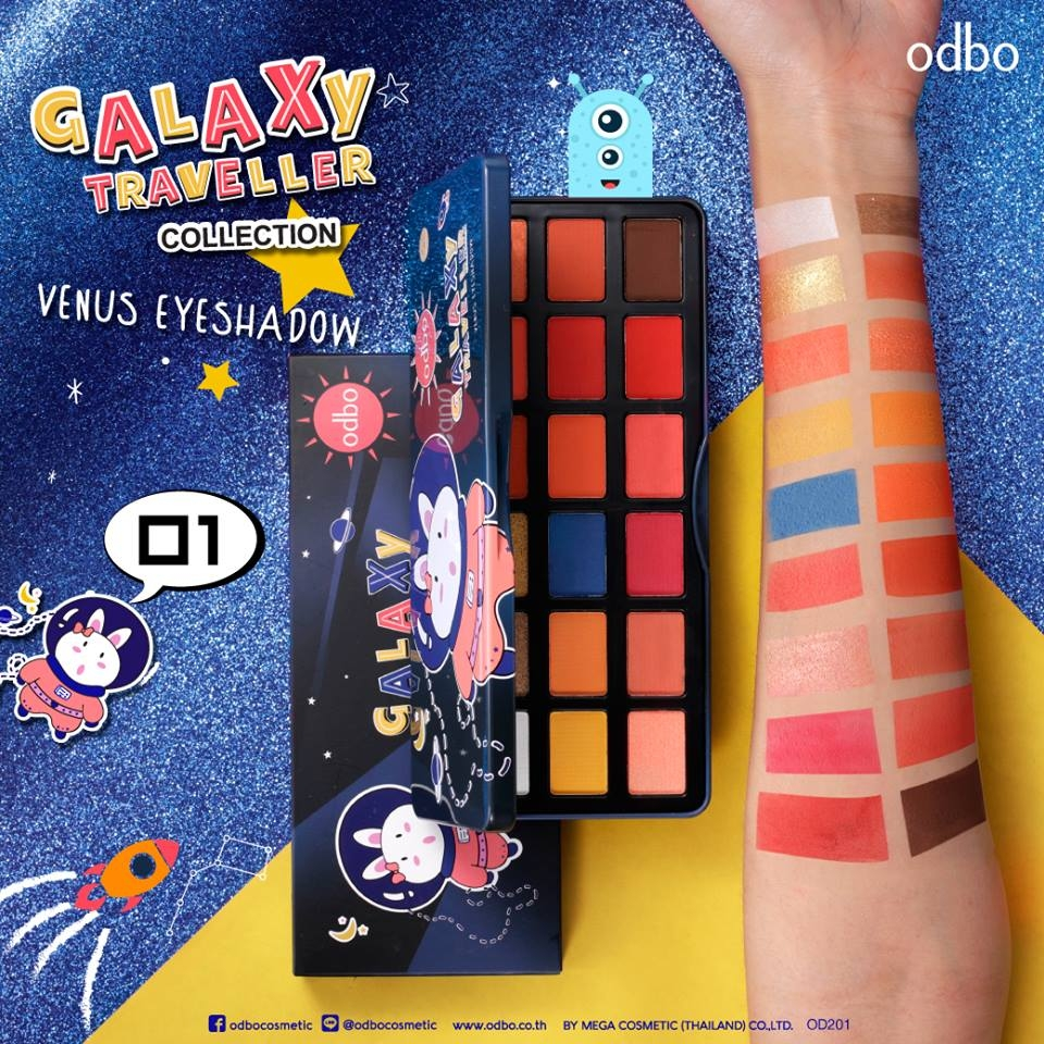 [ Hot Trendy - Galaxy Collection ] Phấn mắt 18 Ô Odbo Galaxy Traveller OD201