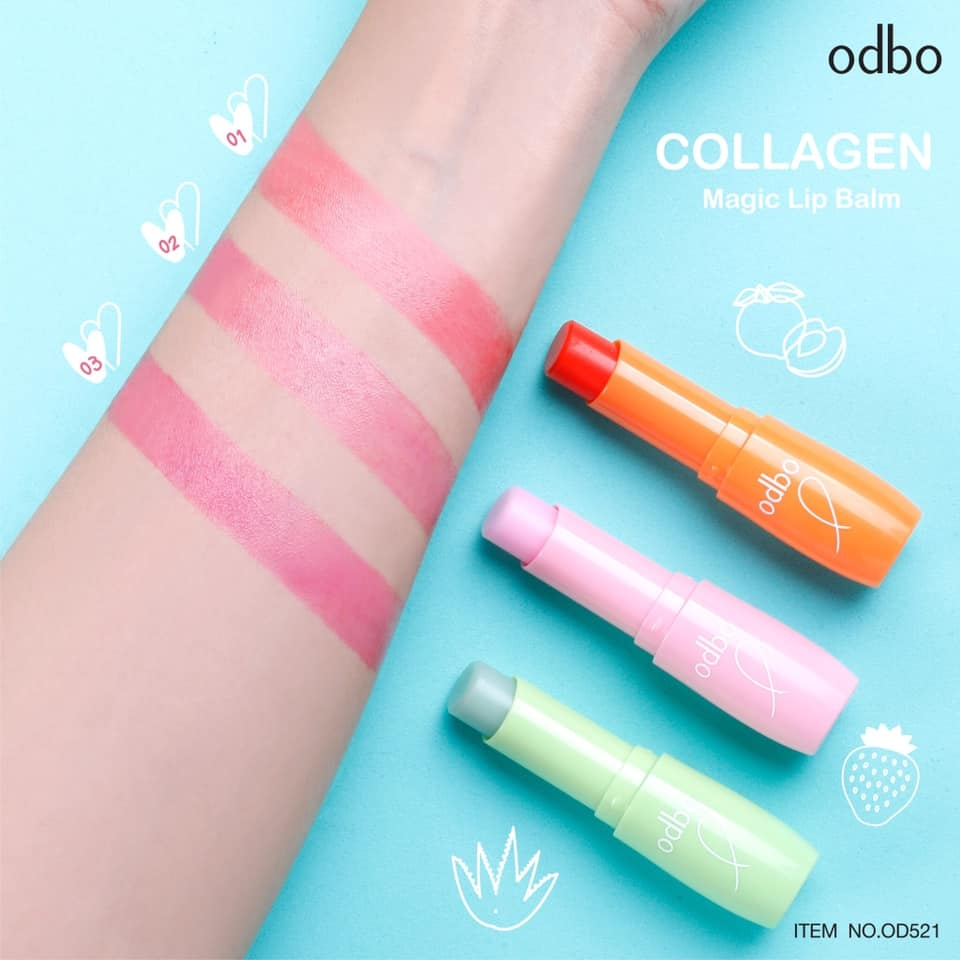 Son Dưỡng Odbo Collagen Magic Lip Balm