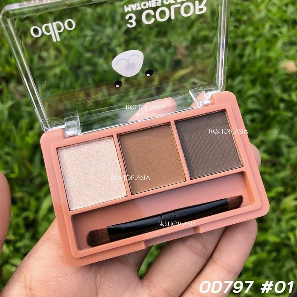 [3 Màu] Set Kẻ Mày Odbo 3 Color Matches Of Brows OD797