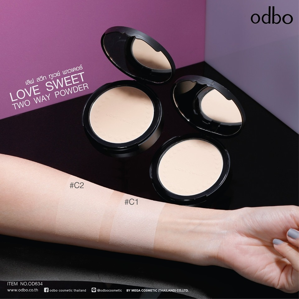 Phấn Phủ Odbo Love Sweet Two Way Powder OD634