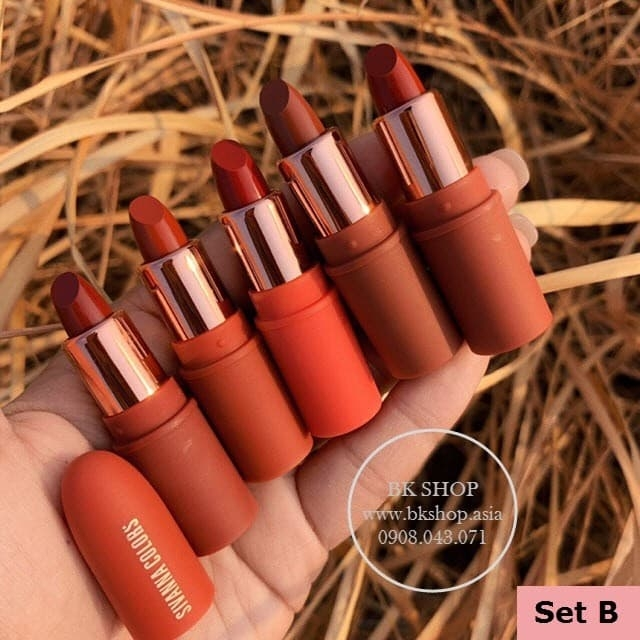 [Set Son Lì 5 Cây] Mini Set Sivanna  5X Lipstick Collection HF398