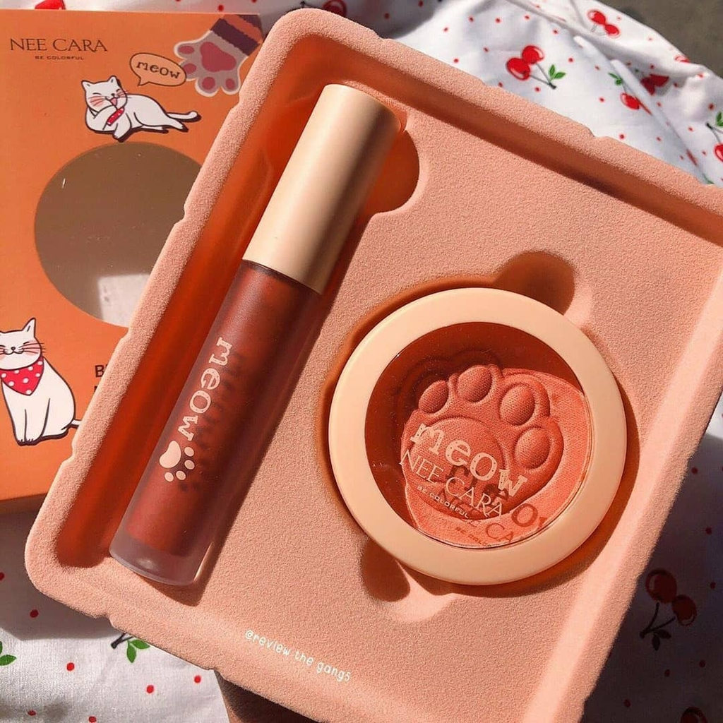 [3 In 1] Set Son - Mắt - Má Hồng Nee Cara Meow Makeup Kits N317