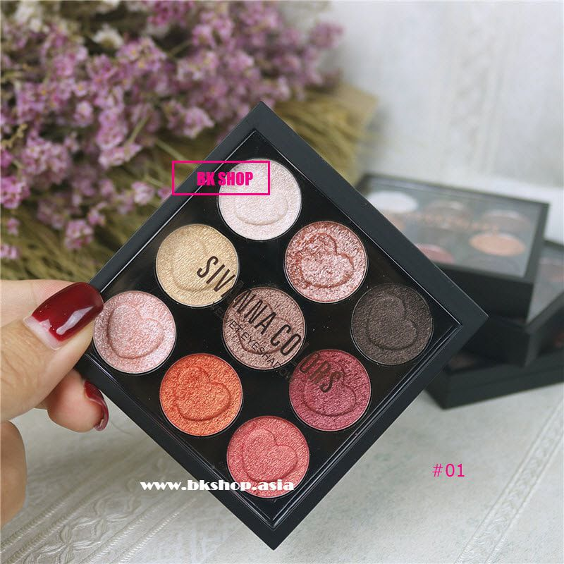 [Phấn Mắt 9 Ô] SIVANNA COLORS Velvet Eyeshadow
