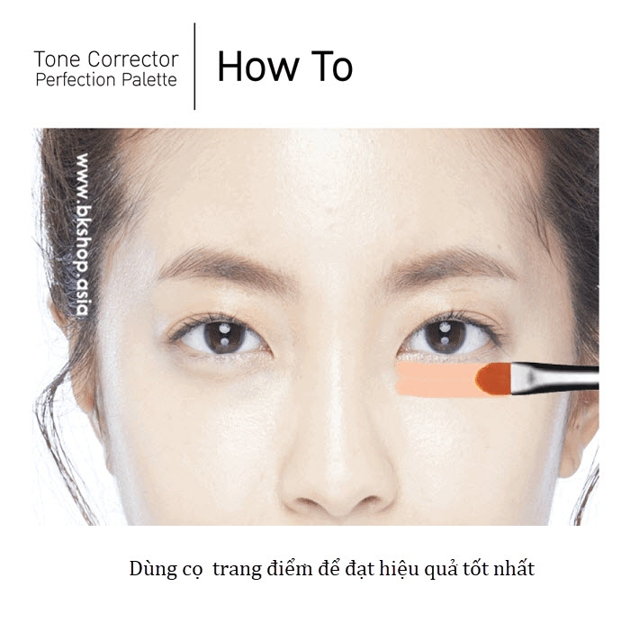 [6 trong 1] Bảng Che khuyết điểm Tone Corrector Perfect Palette BabyBright