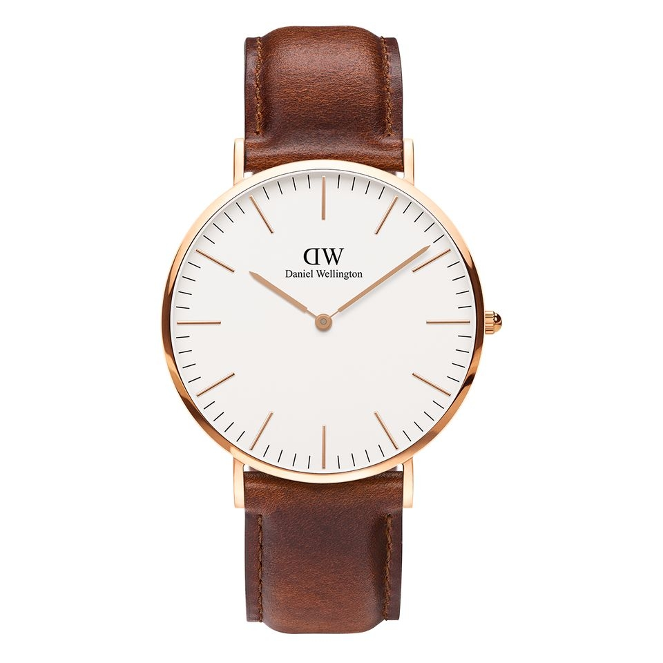 Đồng Hồ DW Classic ST Mawes Rose Gold Nam 40mm Nữ 36mm