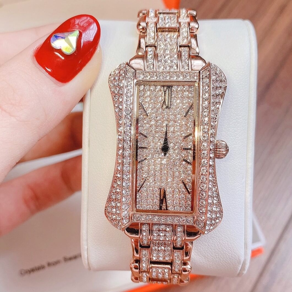 Đồng Hồ Nữ Davena 61639 31mm*42mm Rose Gold Authentic