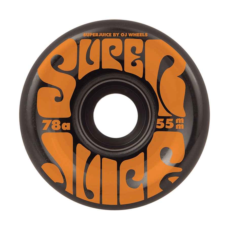 OJ 55MM MINI SUPER JUICE BLACK 78A WHEELS (SOFT WHEELS)