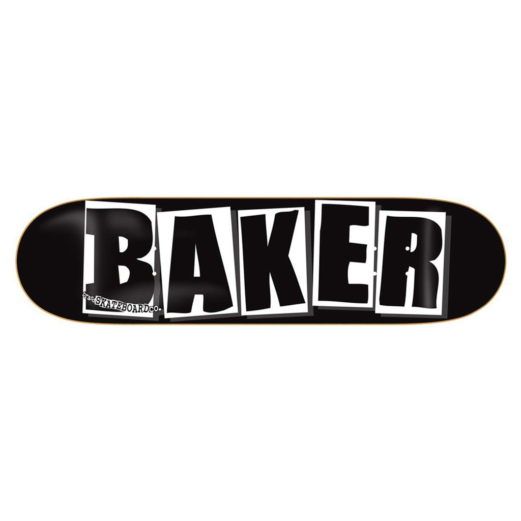 BAKER TEAM BRAND LOGO BLACK/WHITE DECK 8.0