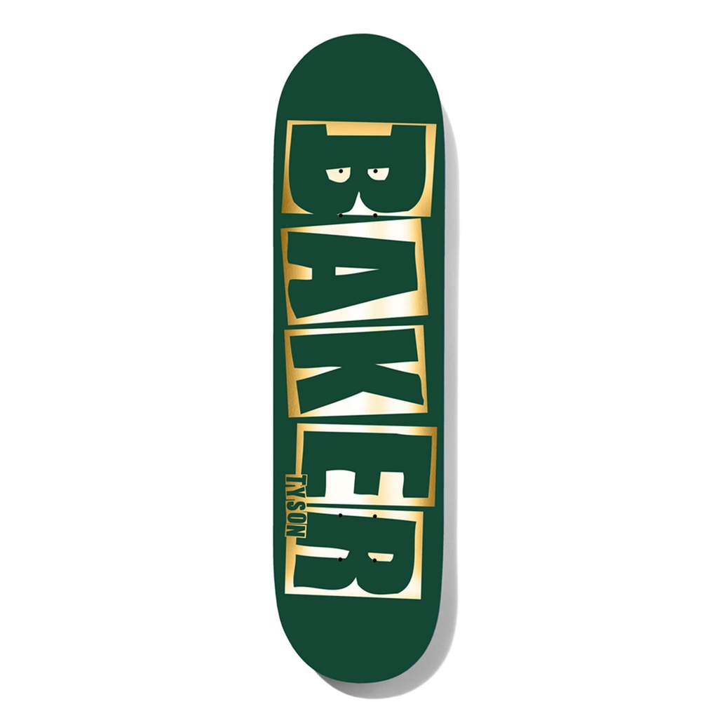 BAKER TYSON BRAND NAME GREEN FOIL DECK 8.0