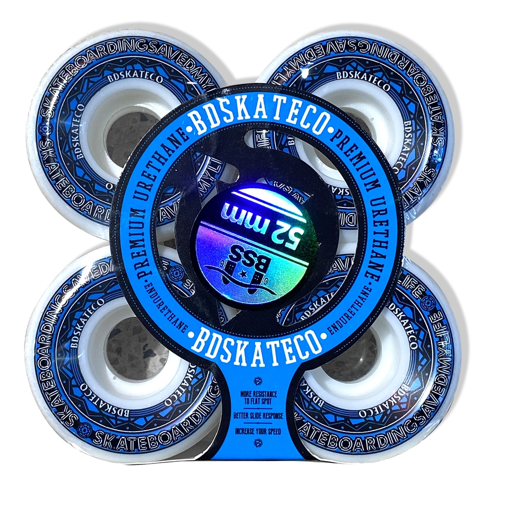 BDSKATECO ROSETTE BLUE 101A WHEELS 52MM