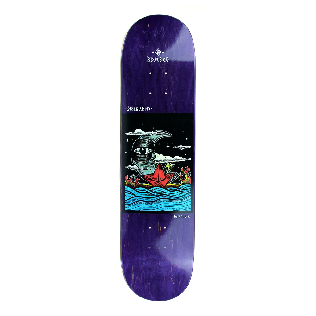 BDSKATECO STOLE ARMY 2 PURPLE DECK