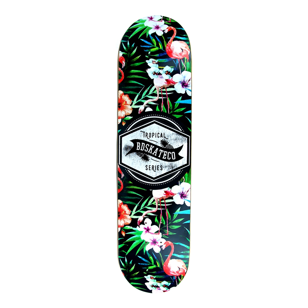 BDSKATECO TROPICAL FLAMINGLE DECK 8.0