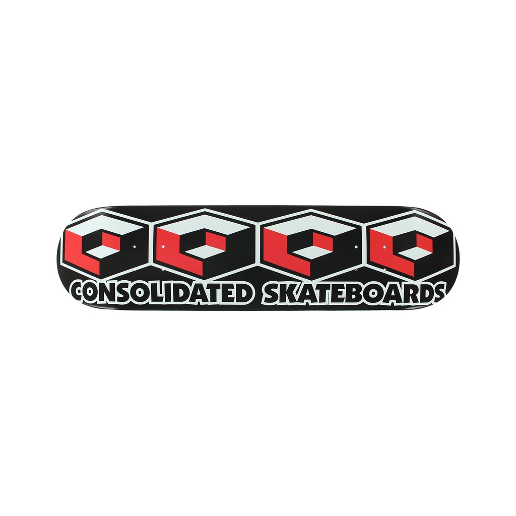 CONSOLIDATED 4 CUBE 7.75 BLACK/RED DECK