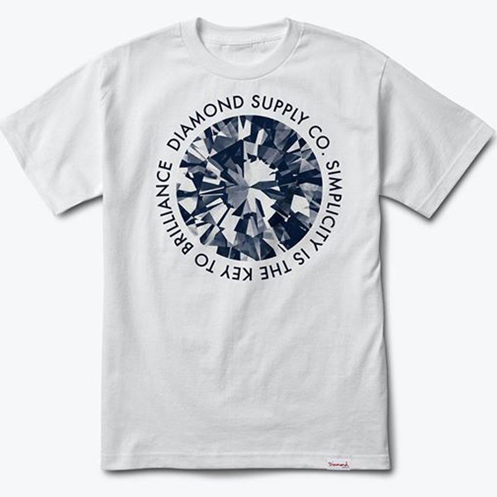 DIAMOND SIMPLICITY TEE WHITE