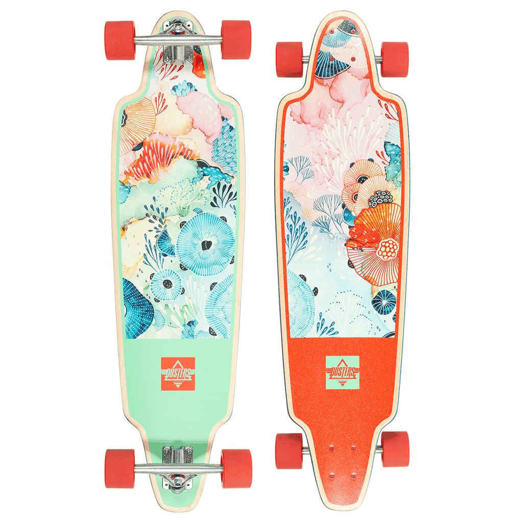 DUSTERS YELLENA LONGBOARD COMPLETE - 10.25x38 MINT/RED