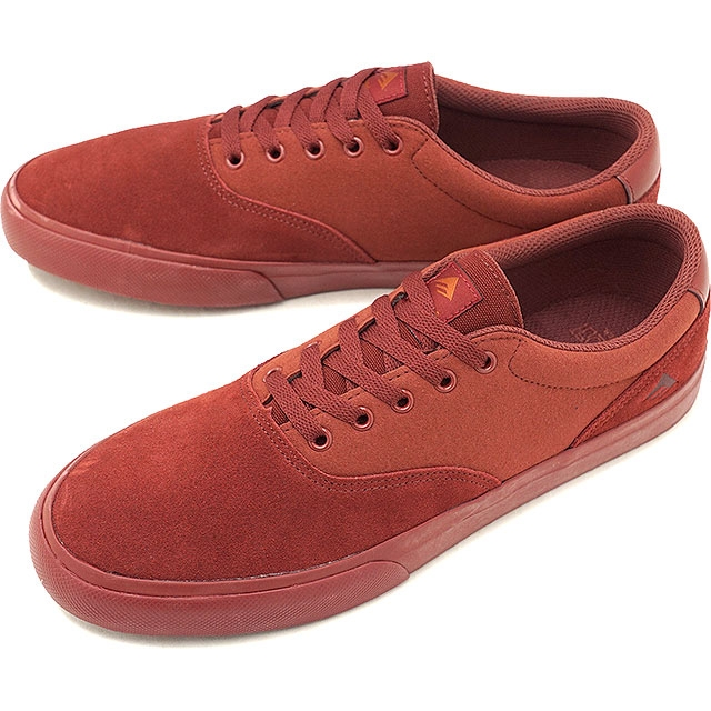 EMERICA PROVOST SLIM VULC - BURGUNDY / BROWN