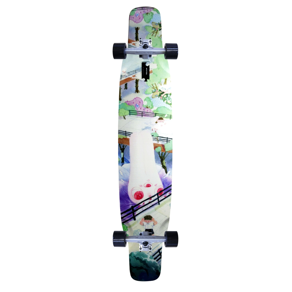 WITH LONGBOARDS FOREST I LONGBOARD COMPLETE SET 9.25x47