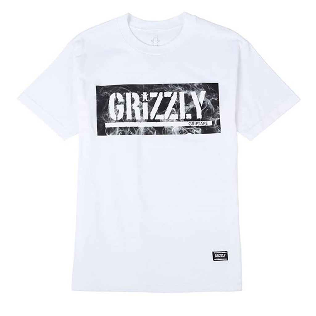 Grizzly Hot Box Logo Stamp T-shirt WHITE S