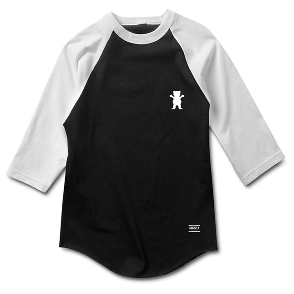 Grizzly OG Bear Two Tone Raglan BLACK