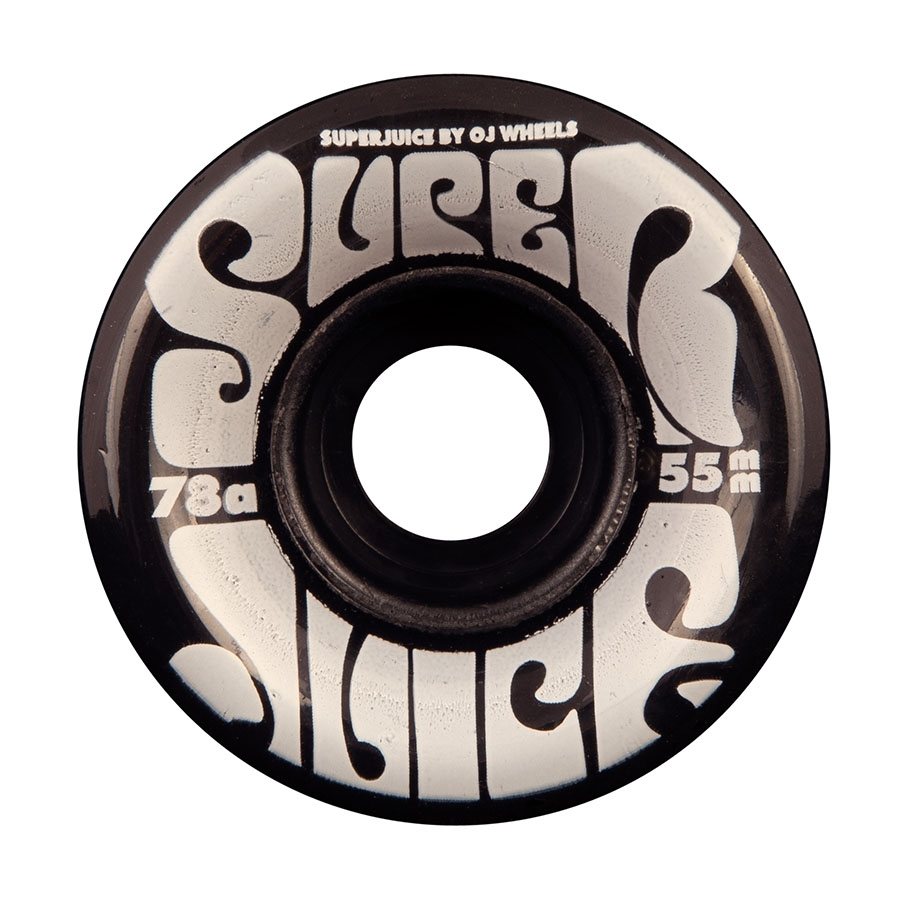 OJ 55MM MINI SUPER JUICE TRANS BLACK 78A WHEELS (SOFT WHEELS)