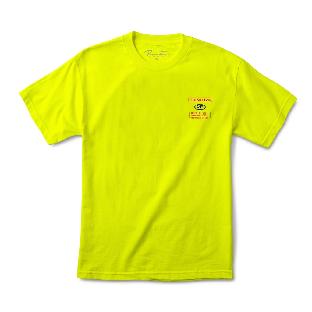PRIMITIVE HORIZON TEE SAFETY GREEN