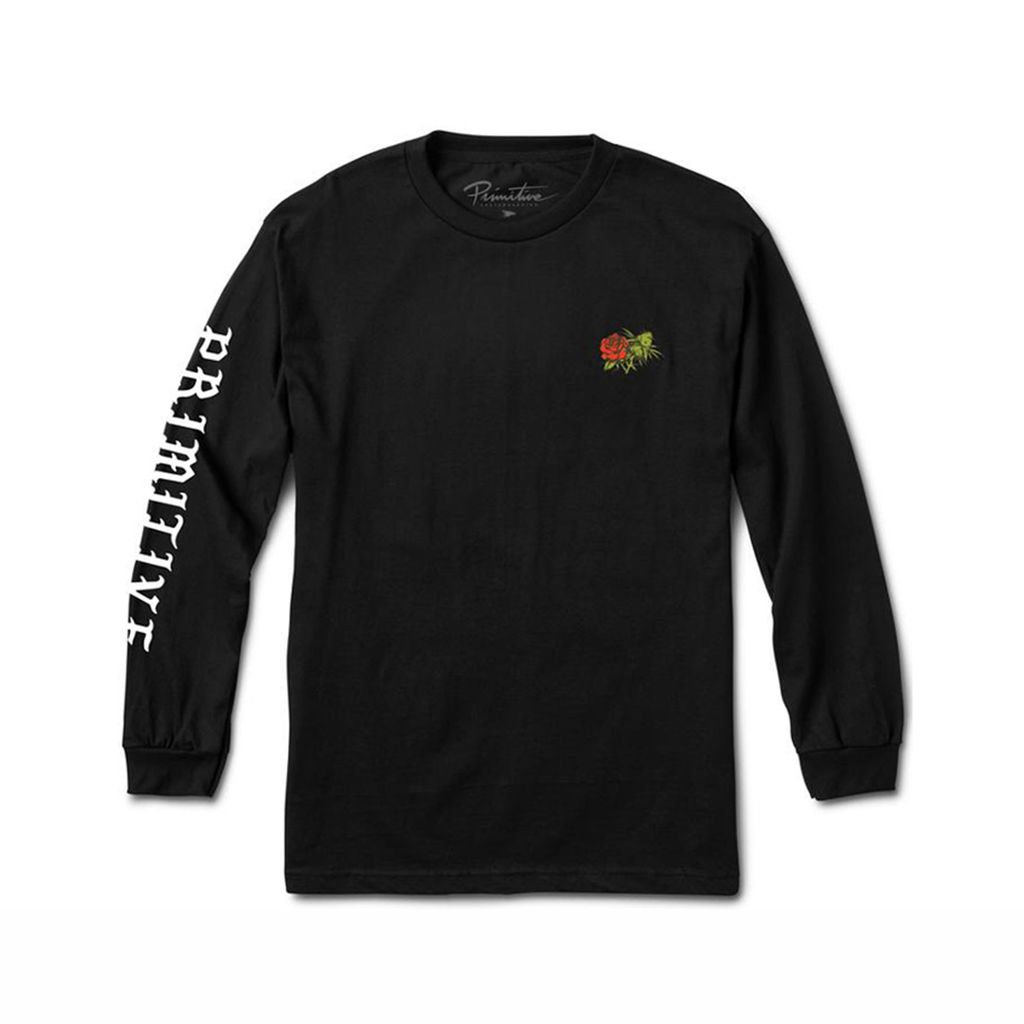 PRIMITIVE ROSEBUD LONGSLEEVES BLACK
