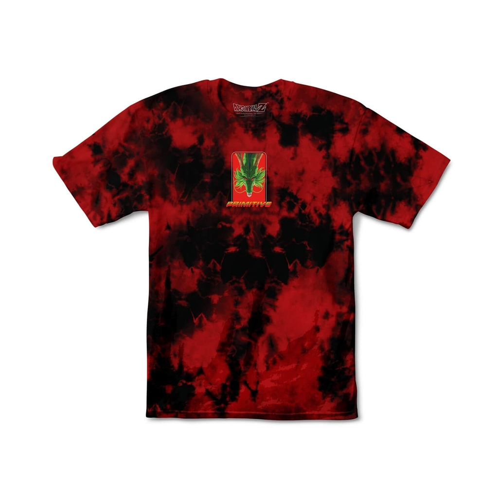 PRIMITIVE SHENRON WISH WASHED SS TEE RED/BLACK - M