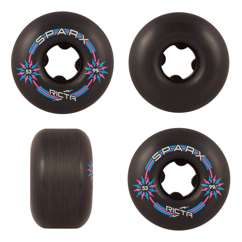 RICTA 53MM SPARX BLACK 99A WHEELS
