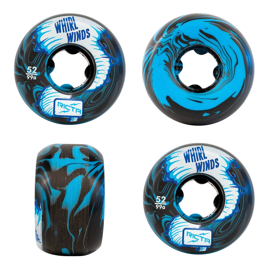 RICTA 52MM WHIRLWINDS BLUE BLACK SWIRL 99A WHEELS
