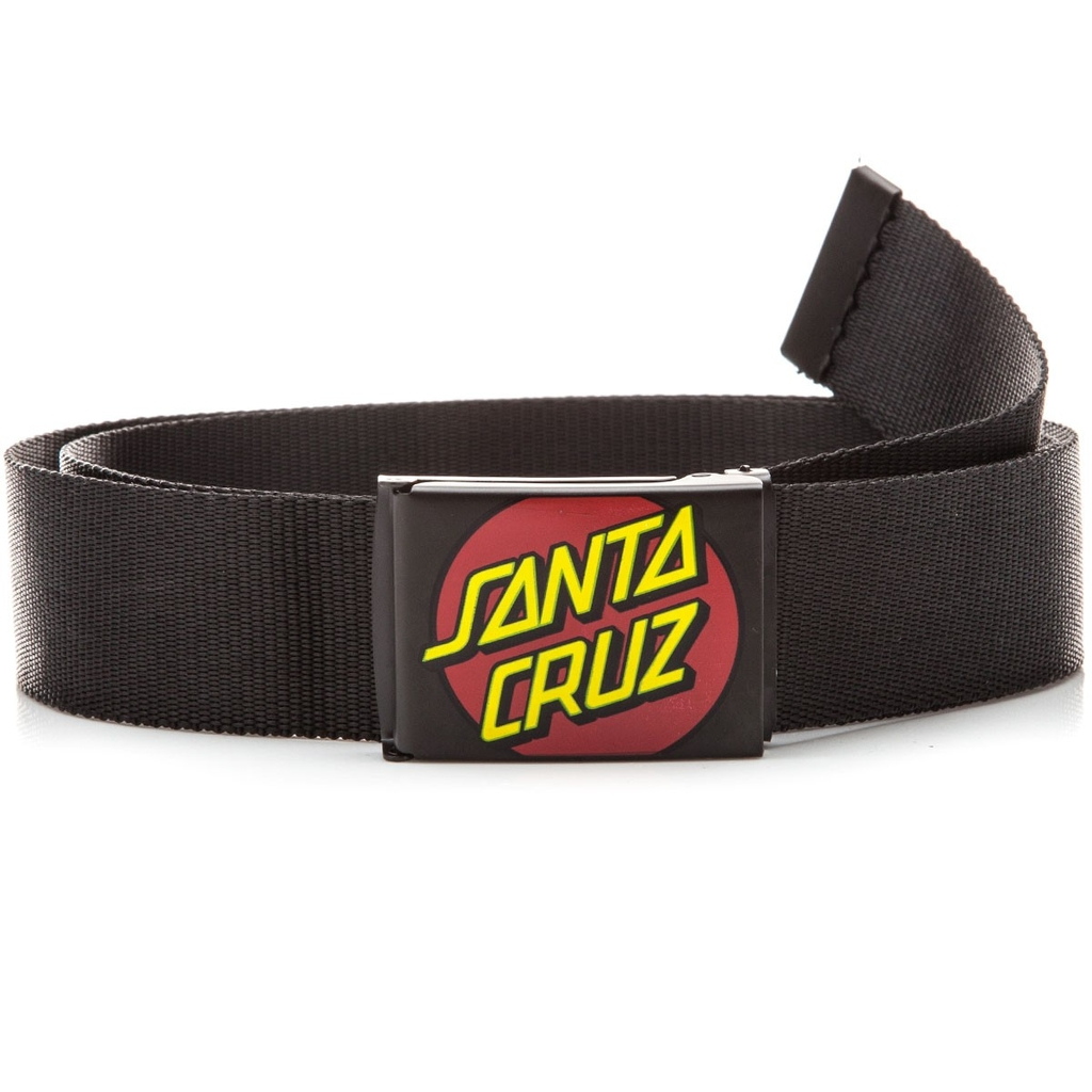 SANTA CRUZ CLASSIC DOT WEB BELT BLACK