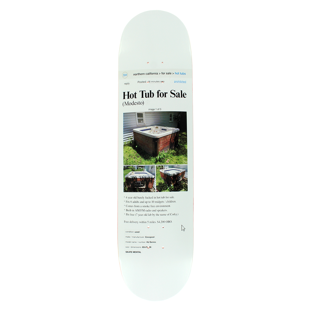 SKATE MENTAL HOT TUB DECK 8.625