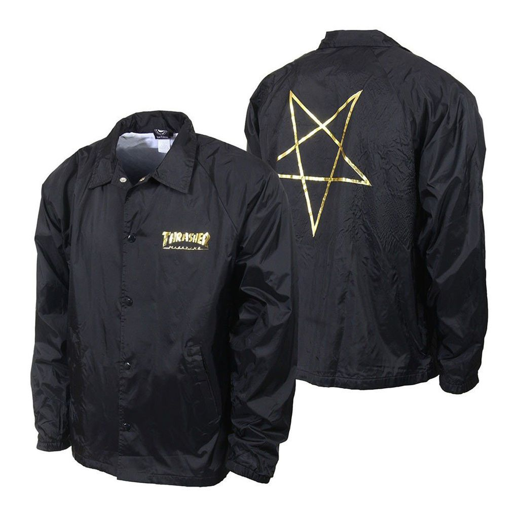 Thrasher Pentagram Coach Jacket Black