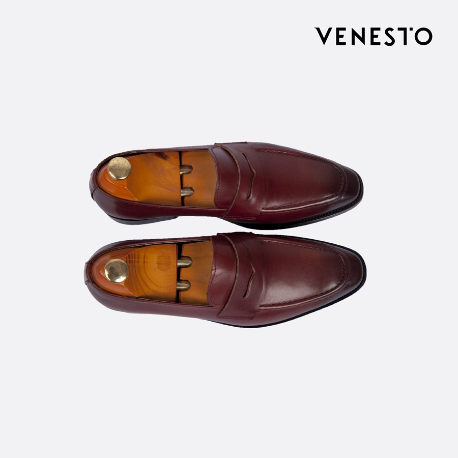 Giầy luxury loafers bordeaux đỏ