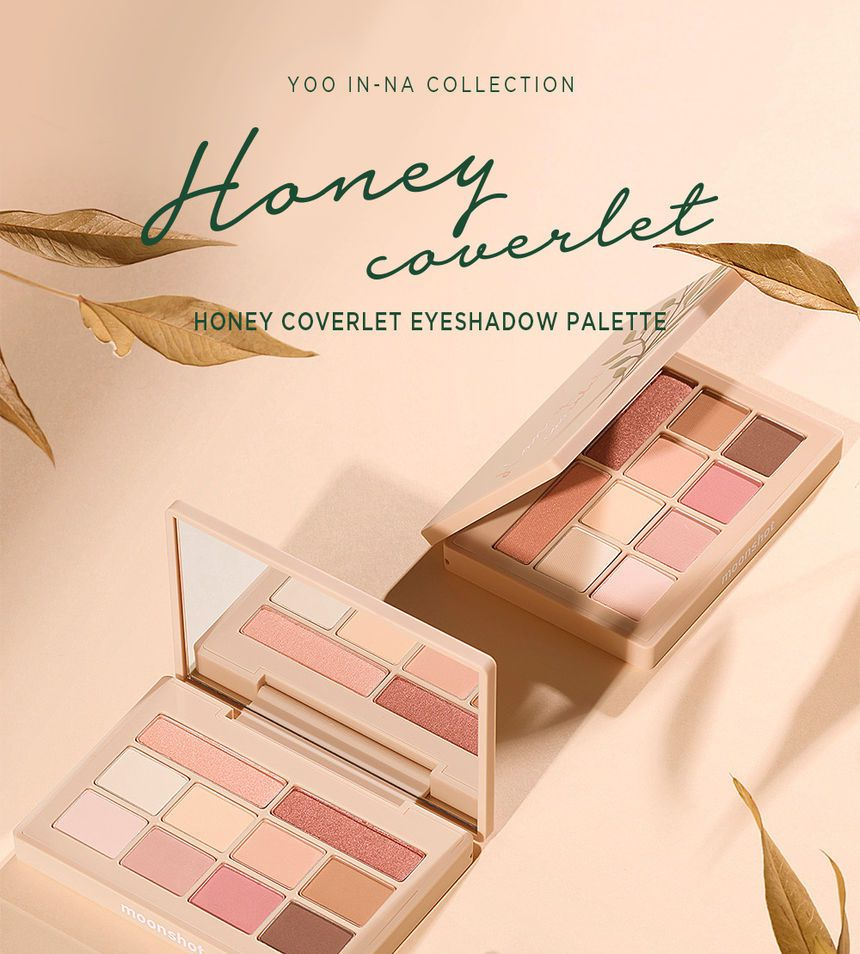 MOONSHOT - Bảng Màu Mắt Honey Coverlet Eyeshadow Palette