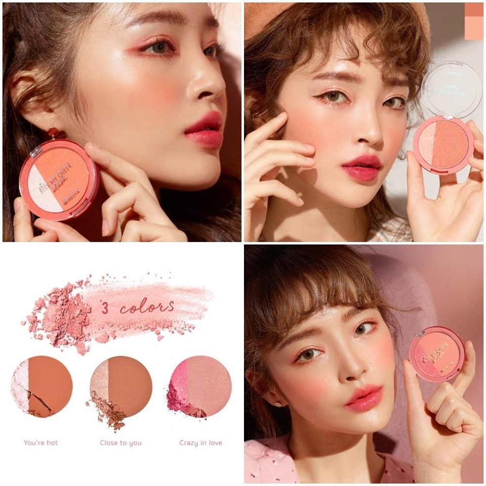 MERRREZ'CA - Má Hồng  Kiss My Cheek Blusher