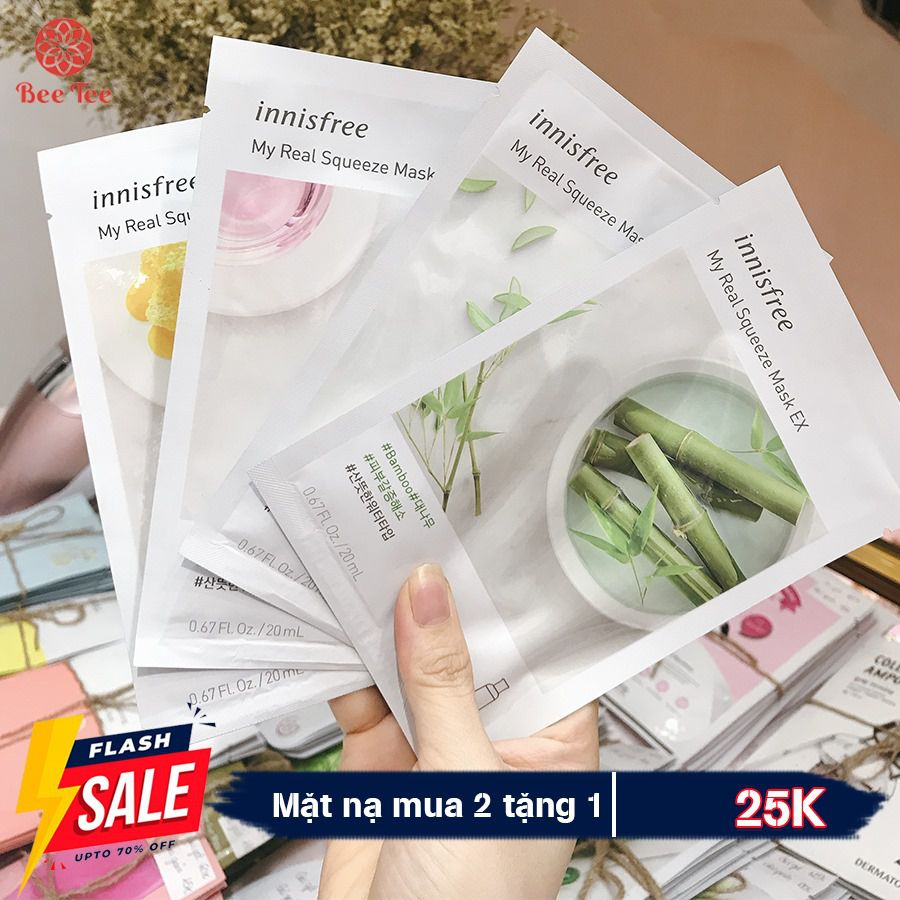 INNISFREE - Mặt nạ dưỡng da Innisfree My Real Squeeze Mask EX