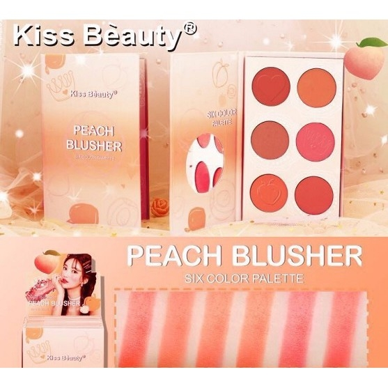 KISS BEAUTY - Phấn má Peach Blusher 6 màu