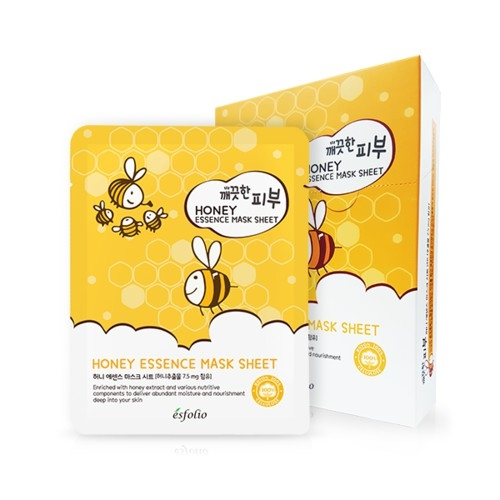 ESFOLIO - Mặt nạ Mật Ong Honey Essence Mask Sheet
