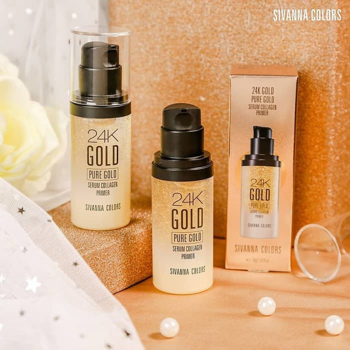 SIVANNA COLORS - Colors 24K Pure Gold Serum Collagen Primer 100%