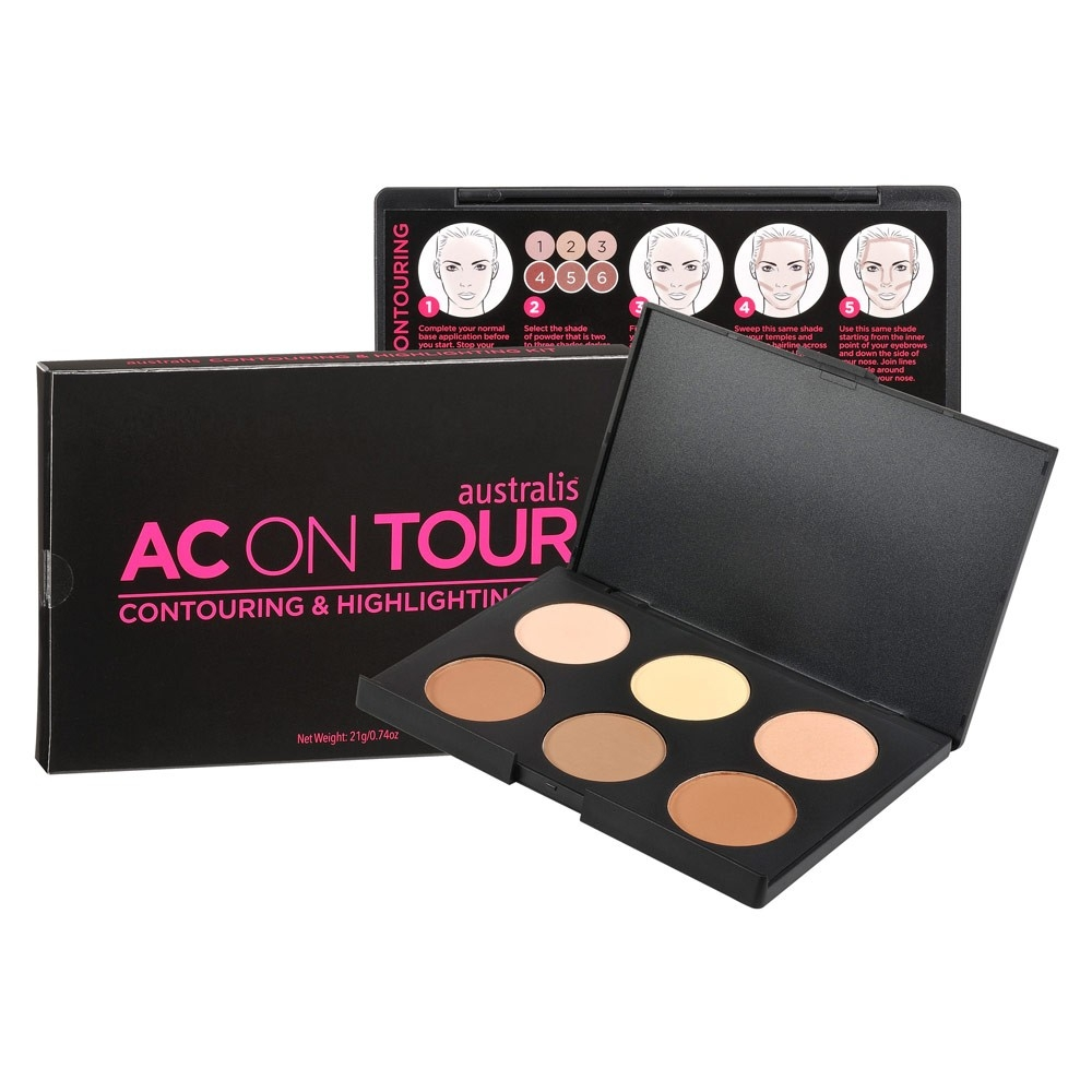 AUSTRALIS - Phấn Highlight AC On Tour Powder Contouring & Higlighting Patette