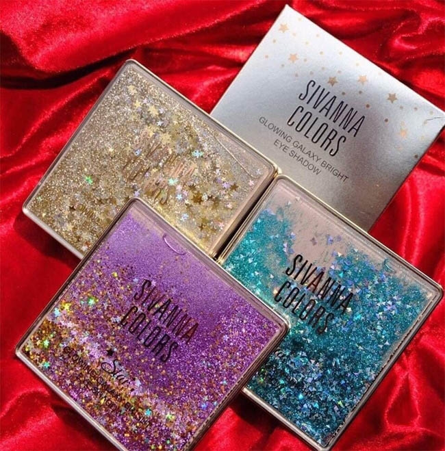 SIVANNA COLORS - Bảng Màu Mắt Glowing Galaxy Bright Eyeshadow