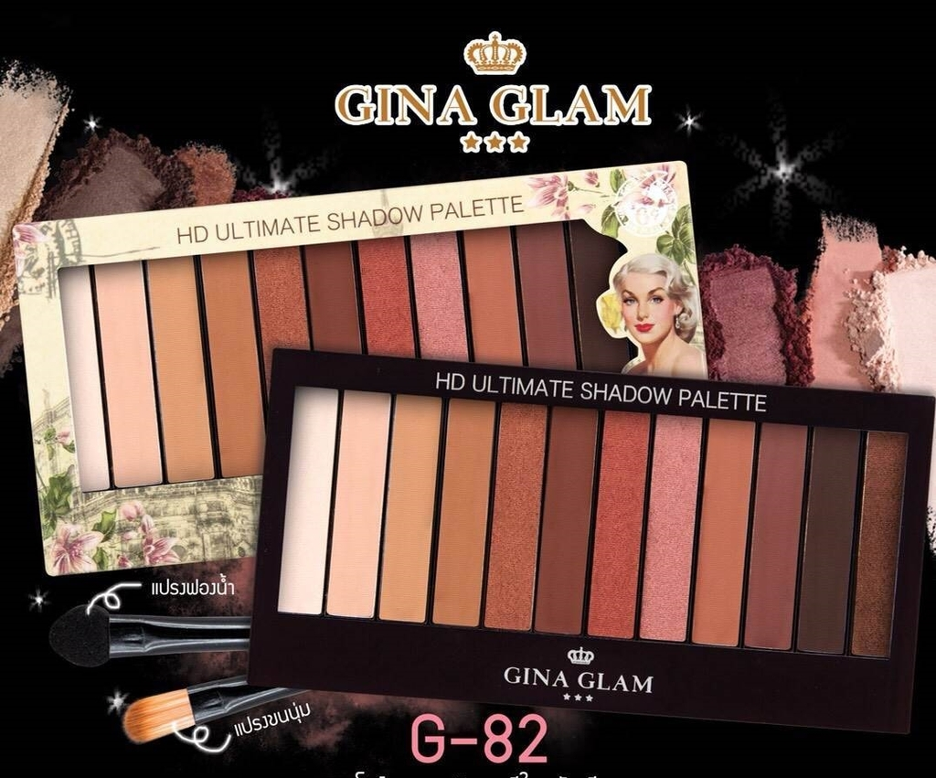 GINA GLAM - Bảng màu mắt HD Ultimate Shadow Palette