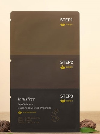 INNISFREE - Mặt nạ Jeju volcanic blackhead 3-step program