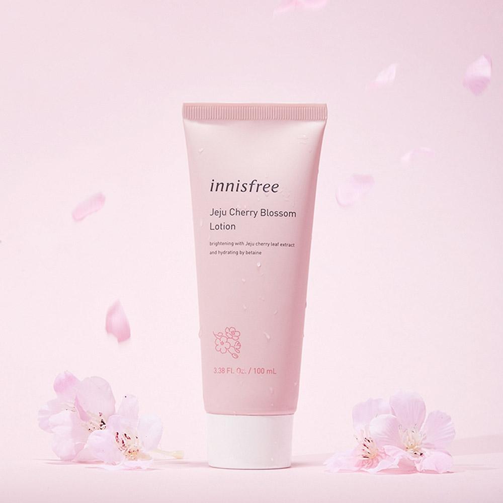 Kết quả hình ảnh cho Sữa dưỡng Jeju Cherry BlossomLotion 100ml